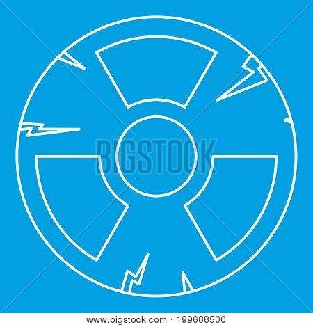 Radiation icon blue outline style isolated vector illustration. Thin line sign