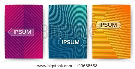 Simple trendy covers template. Set of minimal halftone gradients for presentation magazines flyers annual reports and cards. Vector illustration