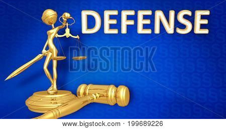Defense Concept Lady Justice The Original 3D Character Illustration