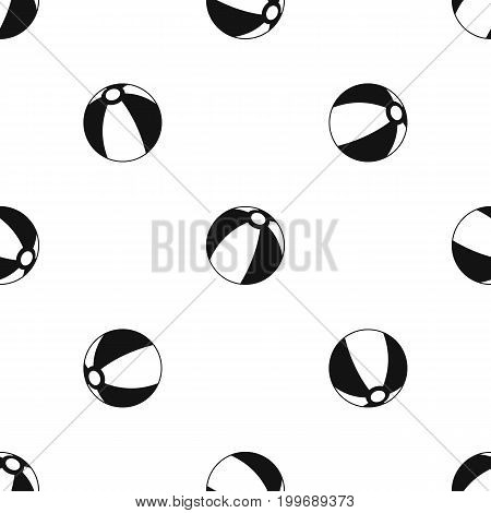 Beach ball pattern repeat seamless in black color for any design. Vector geometric illustration