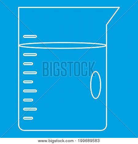 Glass jar icon blue outline style isolated vector illustration. Thin line sign