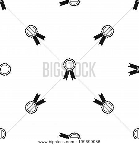 Rosette pattern repeat seamless in black color for any design. Vector geometric illustration