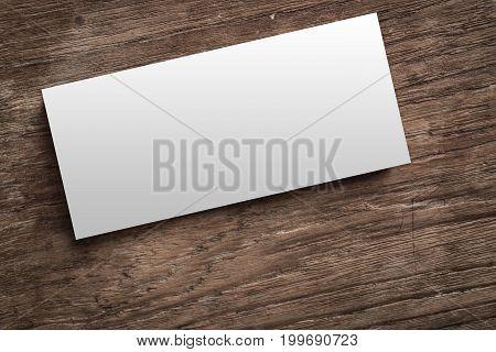 Blank Corporate Identity On Wood Background.