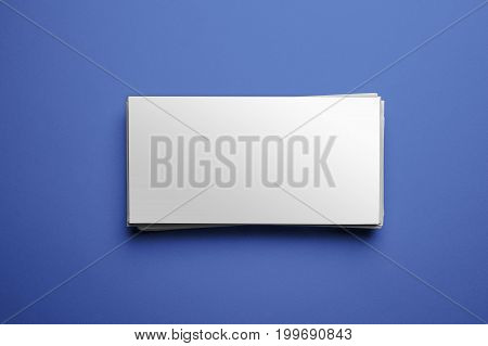 Blank Corporate Identity On Blue Background. Clipping Path Included - Ready For Your Artwork