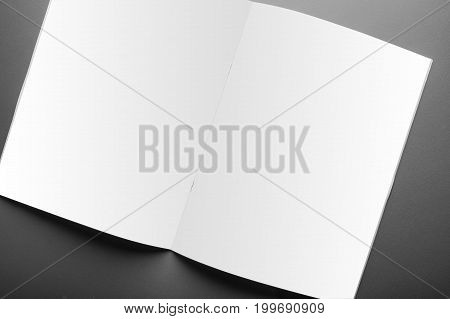 Blank Magazine Cover Template Isolated On Red Background With Clipping Path Ready For Your Artworkbl