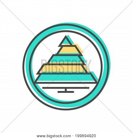 Data sorting icon with scheme sign. Data analysis, business analytics pictogram isolated vector illustration.