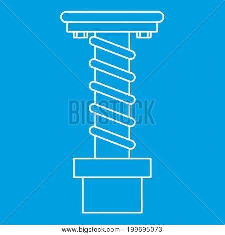 Spiral tool icon blue outline style isolated vector illustration. Thin line sign