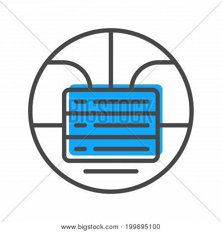 Data stream linear icon with stacked servers sign. Financial data analysis, business analytics pictogram isolated vector illustration.