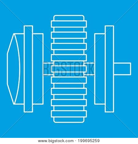 Repair thing icon blue outline style isolated vector illustration. Thin line sign