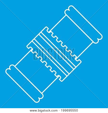 Repair detail icon blue outline style isolated vector illustration. Thin line sign