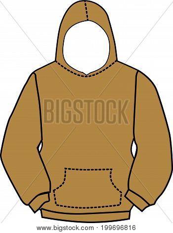 Hoodie sweatshirt with kangaroo style outer pocket
