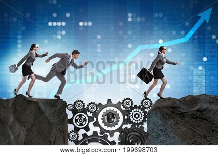Teamwork concept with business people