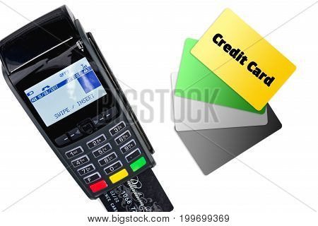 Payment Terminal Isolated On White