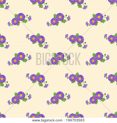 Seamless Background Image Colorful Watercolor Texture Botanic Flower Leaf Plant Asteraceae Purple Da