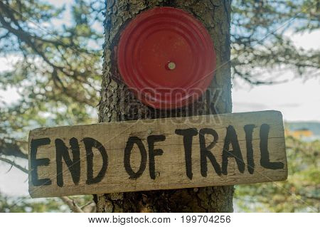 End Of Trail Sign