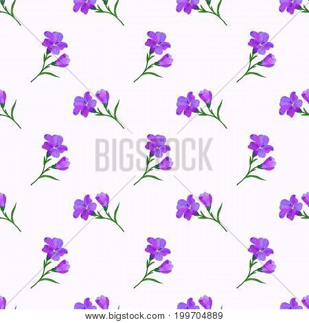Seamless Background Image Colorful Watercolor Texture Botanic Flower Leaf Plant Purple Freesia