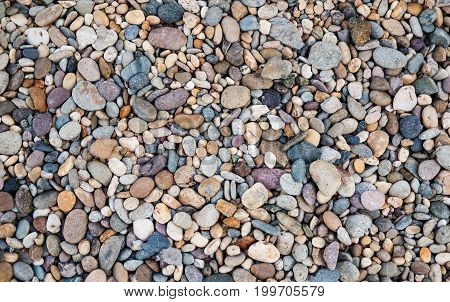Colorful pebble stone background , stone backgrounds