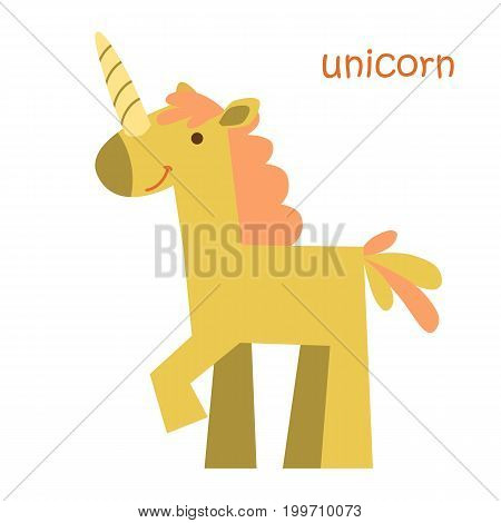 Unicorn isolated. Drawing unicorn for a child