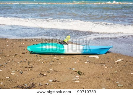 kayak on the tropical beach. Active water sport