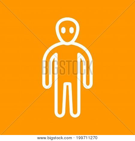Alien, face, head icon vector image. Can also be used for Personality Traits. Suitable for use on web apps, mobile apps and print media.