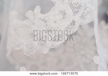 wedding ceremony accessories. bride white dress details