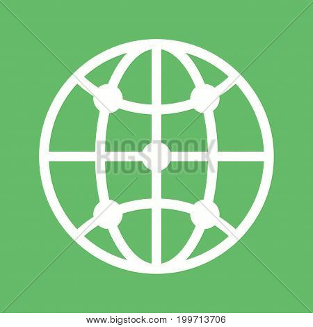 Infrastructure, global, technology icon vector image. Can also be used for Data Analytics. Suitable for use on web apps, mobile apps and print media.