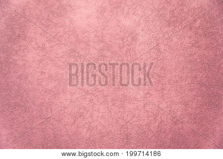 Pink texture painted wall with crack for interior background