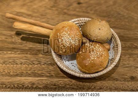 Dinner roll bread for dinner