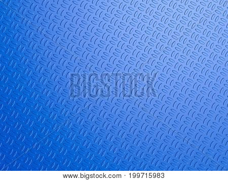 3d rendering blue yoga mat background top view