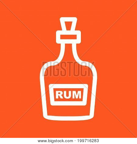 Bottle, rum, whiskey icon vector image. Can also be used for Pirate. Suitable for use on web apps, mobile apps and print media
