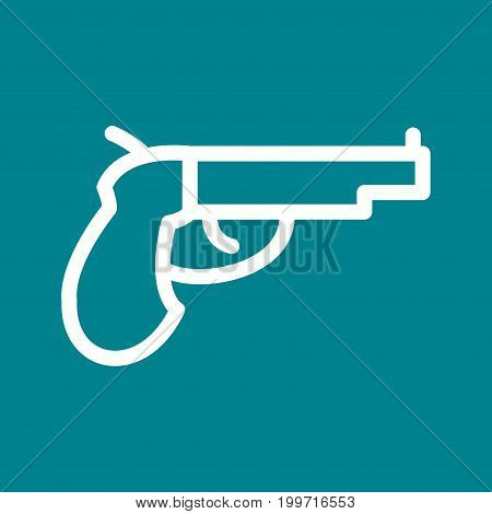 Pirate, gun, pistol icon vector image. Can also be used for Pirate. Suitable for use on web apps, mobile apps and print media.