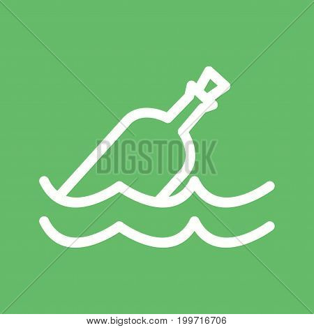 Bottle, rope, sea icon vector image. Can also be used for Pirate. Suitable for use on web apps, mobile apps and print media.