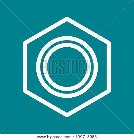 Tool, hardware, nut icon vector image. Can also be used for Hand Tools. Suitable for use on web apps, mobile apps and print media.