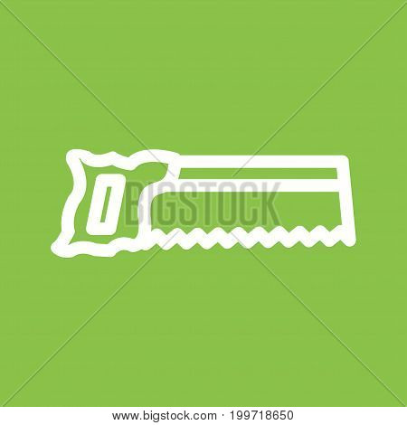 Saw, cut, tennon icon vector image. Can also be used for Hand Tools. Suitable for use on web apps, mobile apps and print media.