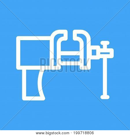 Vice, tool, pressure icon vector image. Can also be used for Hand Tools. Suitable for use on web apps, mobile apps and print media.