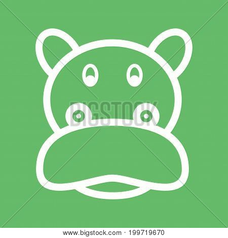 Hippopotamus, africa, animal icon vector image. Can also be used for Animals Faces. Suitable for mobile apps, web apps and print media.