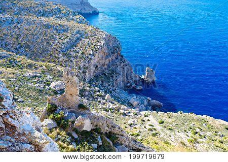 Panorama view of Cap de Formentor - wild coast of Mallorca, Spain, Balearic Islands. Artistic sunny day beautiful landascape
