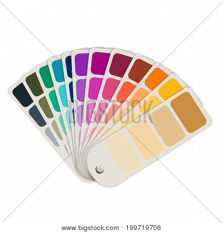 3d rendering color guide or color swatch collection isolated on white