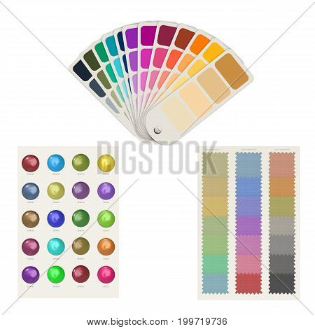3d rendering color guide or color swatch palette isolated on white