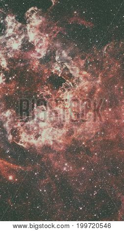 Colorful Space Nebula With Stars. Elements Of This Image Furnished By Nasa.