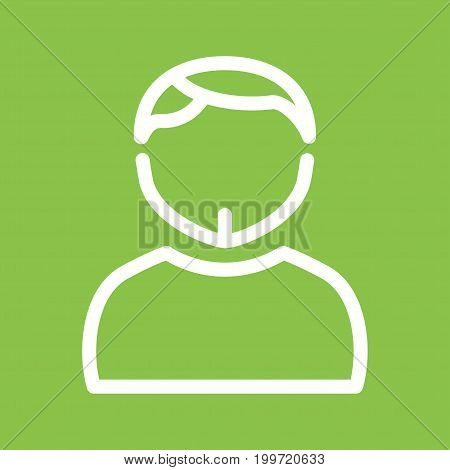 Hat, man, young icon vector image. Can also be used for Avatars. Suitable for use on web apps, mobile apps and print media.