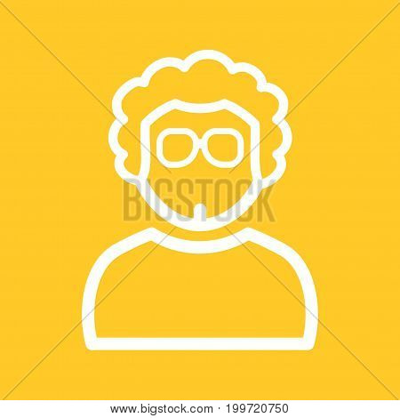Boy, beautiful, cool icon vector image. Can also be used for Avatars. Suitable for use on web apps, mobile apps and print media.