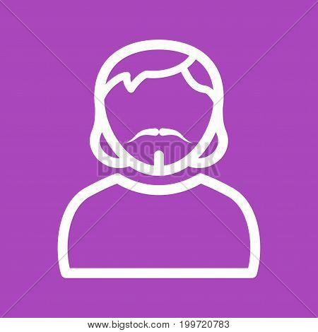 Man, goatee, portrait icon vector image. Can also be used for Avatars. Suitable for mobile apps, web apps and print media.
