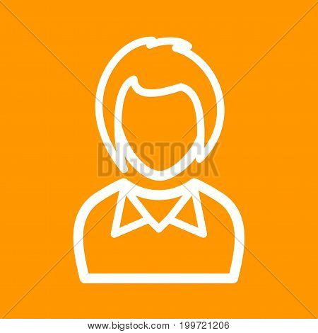 Hair, bob, beautiful icon vector image. Can also be used for Avatars. Suitable for use on web apps, mobile apps and print media.