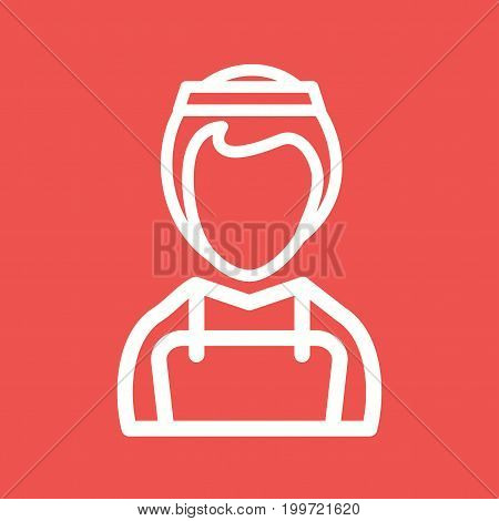 Maid, service, cleaning icon vector image. Can also be used for Avatars. Suitable for use on web apps, mobile apps and print media.