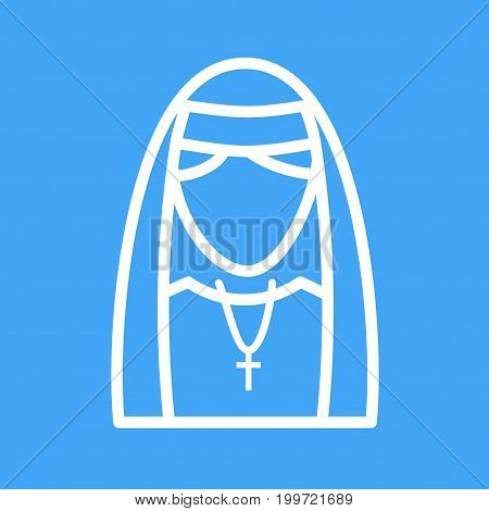 Nun, black, lady icon vector image. Can also be used for Avatars. Suitable for use on web apps, mobile apps and print media.