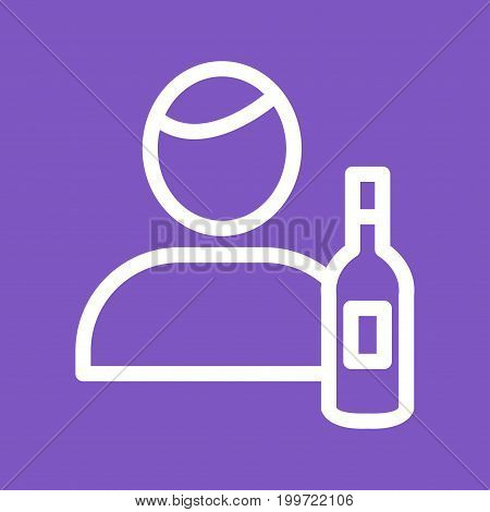 Man, bar, restaurant icon vector image. Can also be used for Cafe and Bar. Suitable for use on web apps, mobile apps and print media
