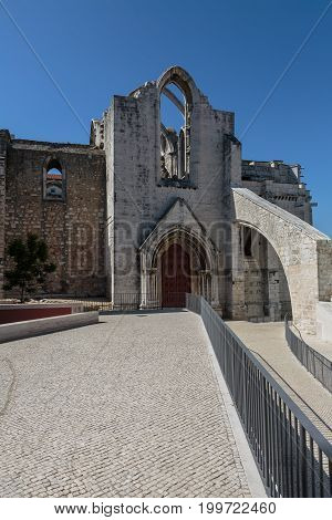 The Carmo Convent, Historical Building, Lisbon, Portugal