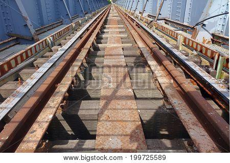 Old Rusty Railway Bridge