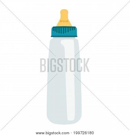Baby bottle. Isolated object. Flat design Vector illustration
